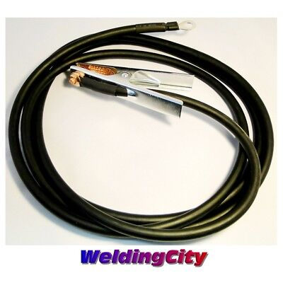 Weldingcity 10-ft Welding Cable 2 Awg Ground Clamp Lug Connector Us Seller C2