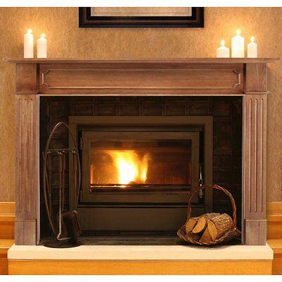 Pearl Mantels Alamo Wood Fireplace Mantel Surround, Unfinished, 50 inches