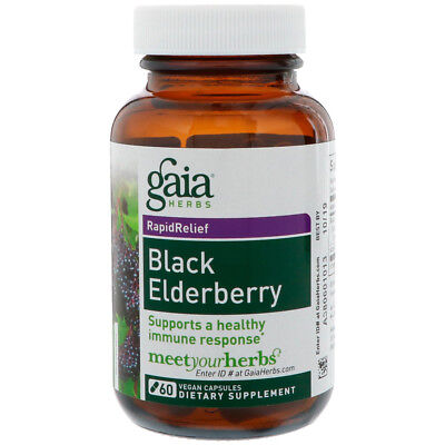 Gaia Herbs Black Elderberry   60 Vegan Capsules
