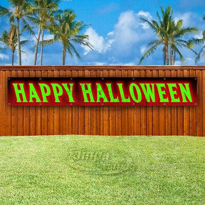 HAPPY HALLOWEEN Advertising Vinyl Banner Flag Sign LARGE SIZES USA COSTUMES](Halloween Vinyl Banners)