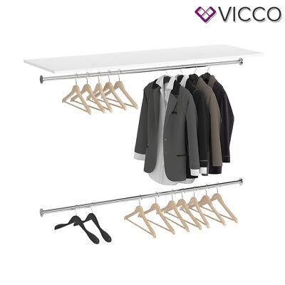 Vicco Oberplatte VISIT - Regal Schlafzimmer Umkleide Erweiterung Kleiderstange