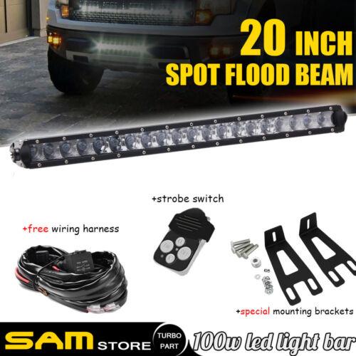 20 22 inch LED Light Bar+Mounting Brackets Fit For Dodge Ram 2500//3500 2003-16