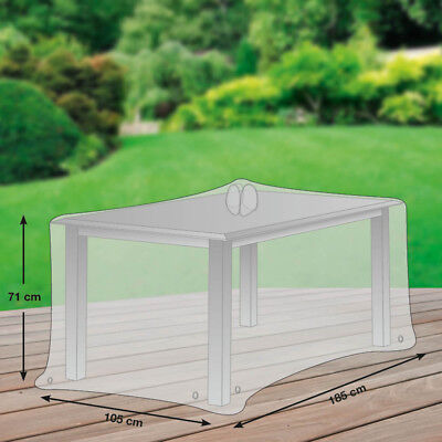 Premium Schutzhülle für Gartentisch rechteckig Polyester Oxford 600D lichtgrau ()
