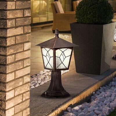 Exterior Iluminación Linterna Puerta Casa Lámpara de Pie Entrada Hof Aluminio