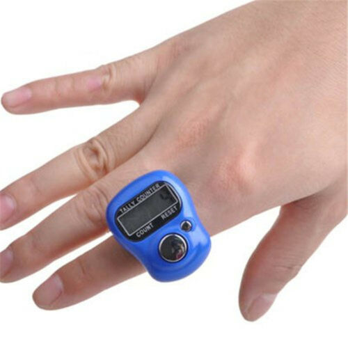 Digital  Finger Ring Tally Counter Hand Held Knitting Row counter Clicker UK