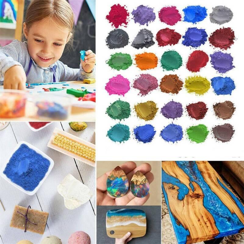 30 Colors Epoxy Resin Metallic Pearl Mica Pigment Powders So