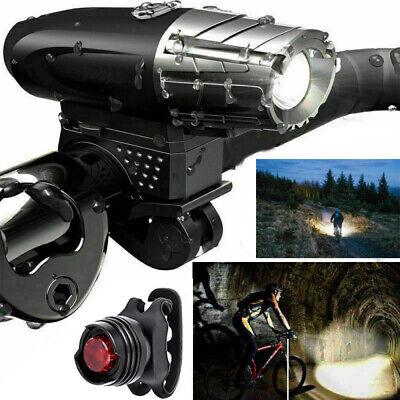 Set Juego de luces LED para bicicleta Luz delantera y trasera Faro...