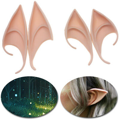 Wings For Costumes (2 Pairs Latex Elf Ears Cosplay Ears Fairy Pixie Costume For Manga Anime)