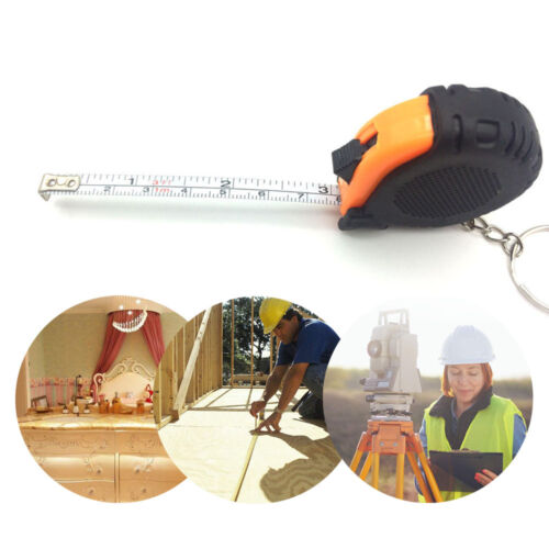 5/' 1.5m Retractable Ruler Steel Tape Measure Key Chain Measuring Tool Cheap GIFT