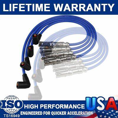 4pcs New Spark Plug Wire #27588 for Beetle Bora VW Golf GTI Jetta 2.0L 06A998031 Jetta Ignition Wire
