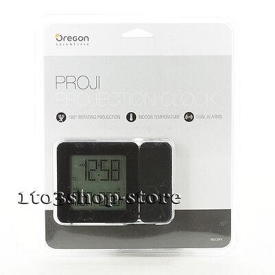 Oregon Scientific Projection Atomic Clock Alarm w/Indoor Temperature (Black) New