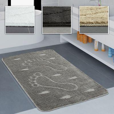 Badezimmer Teppich Rutschfest Fußabdruck Einfarbig In Versch. Größen u. Farben Rutschfest