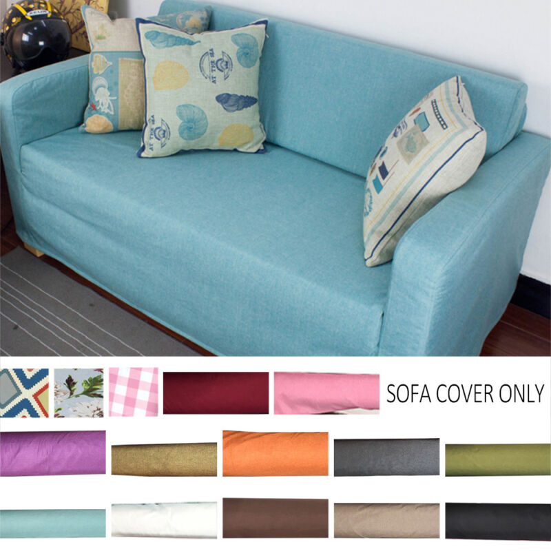 Home Sofa Fits SOLSTA Slipcover Customize Solid