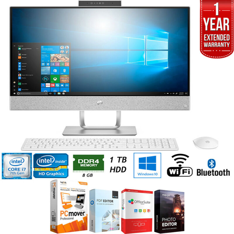 "HP Pavilion 23.8"" Touch-Screen All-In-One Intel Core i7 8GB Memory 1TB Hard Drive HP finish in blizzard white 24-X030"