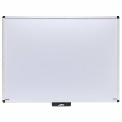Justick 48 X 36 Premium Aluminum Frame Whiteboard With Clear Smd02572