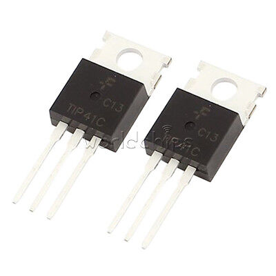 10pcs Tip41c Tip41 Npn 6a 100v To-220 Transistor New