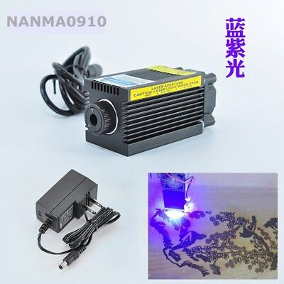 405nm 300mw Purple Violetblue Dot Laser Diode Module Carving W 12v Ac Adapter