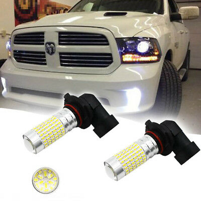 2x White 144-SMD LED Upgrade Fog Lights For 2003-2018 DODGE RAM 1500 2500 3500 - Led Lights Bulk