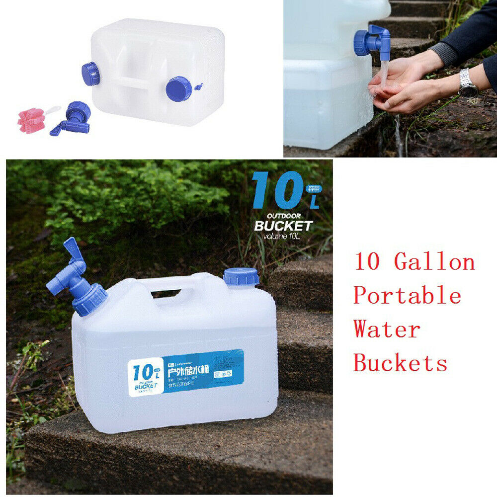 10L Water Bucket Water Container PC Water Storage Barrel Outdoor Travel Camping