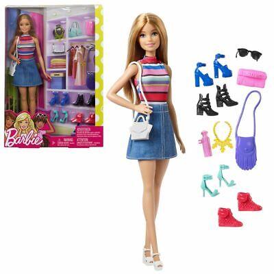 Muñeca de Moda rubia con Accesorios | Barbie | Mattel FVJ42 |...