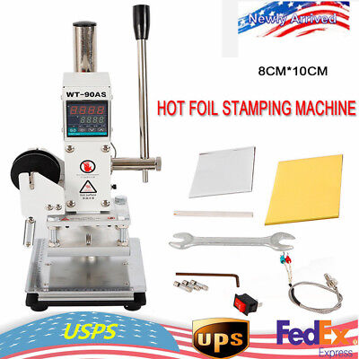 810cm Digital Manual Hot Foil Stamping Machine Leather Pvc Card Embossing Print