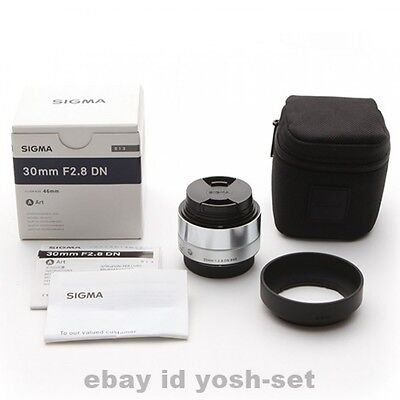 SIGMA A 30mm F2.8 DN Silver for Sony E-mount from Japan
