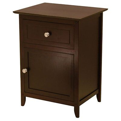 Night Table With Cabinet and Drawer, Multiple Colors