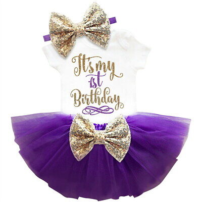It's My First 1st Birthday Sets Baby Girl Tutu Cake Dress Outfit Party Clothes](Winter First Birthday)