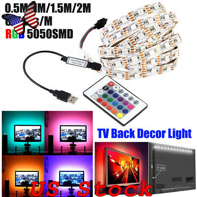 DC5V USB LED strip 60LEDs/M 5050 RGB Flexible Light 0.5M-2M TV RGB Adhesive Tape