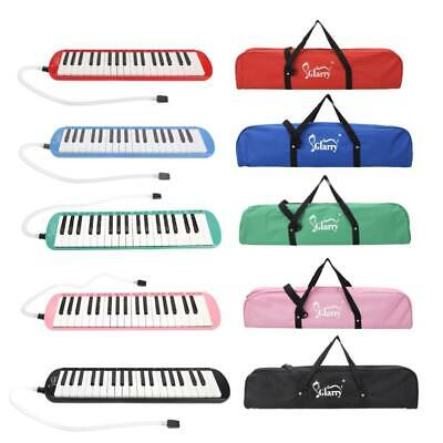 New 37 Key Melodica Instrument W/Blowpipe Mouthpiece Hose Air Piano Keyboard Bag