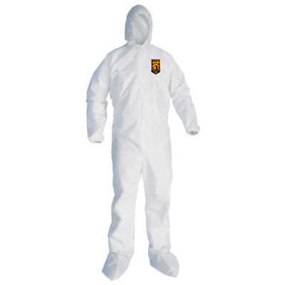 Painter Coveralls Qty2 Kleenguard A30 Med-4xl Protection From Dust Fiber Liquid