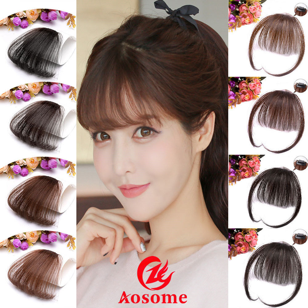Details about 100% Real Human Hair Thin Neat