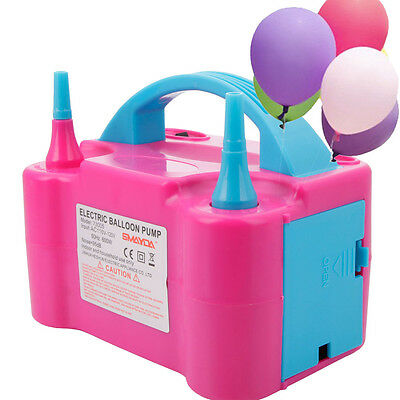 Portable Double Electric Balloon Air Pump Inflator 110V Blower Party Pink](Inflatable Parties)