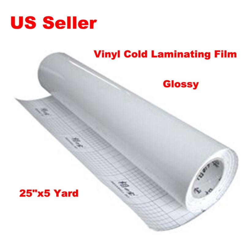 "25""x 5 Yard Length  Glossy luster Vinyl Cold Laminating Film Laminator"