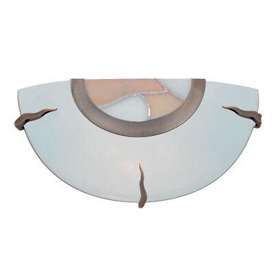 Searchlight Tiffany Glass Brass Indoor Wall Flush Fitting Bracket Uplighter New