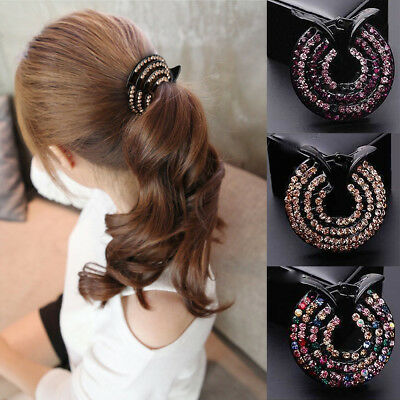 Elegant Women Girls Crystal Hair Clip Styling Holder Hairpin Decor Gift Supplies
