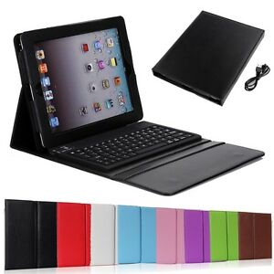 Black-Stand-Leather-Case-Cover-With-Bluetooth-Keyboard-For-Apple-iPad-2-3-4-Gen