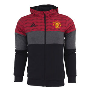 adidas manchester united full zip fleece hoodie ebay. Black Bedroom Furniture Sets. Home Design Ideas