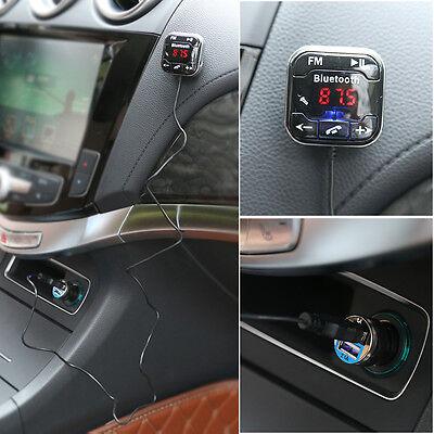 Bluetooth Auto KFZ MP3 FM Transmitter Freisprechanlage USB Ladegerät SD