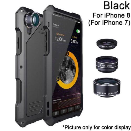 Aluminum Metal Phone Case Cover 3 Camera Lens Waterproof for