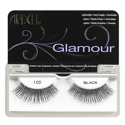 (Ardell Glamour Fashion Lashes, Black [105] 1 ea)