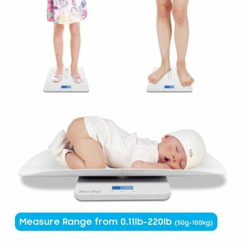 MomMed Digital Baby Tray Scale Infant / Baby / Adult / Pet Weight 0.11-220 lbs