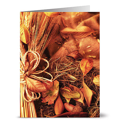24 Thanksgiving Note Cards - Abundant Harvest - Kraft Envs