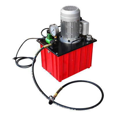 110v Electric Hydraulic Pump Single Acting Solenoid Valve 10000 Psi Pressure