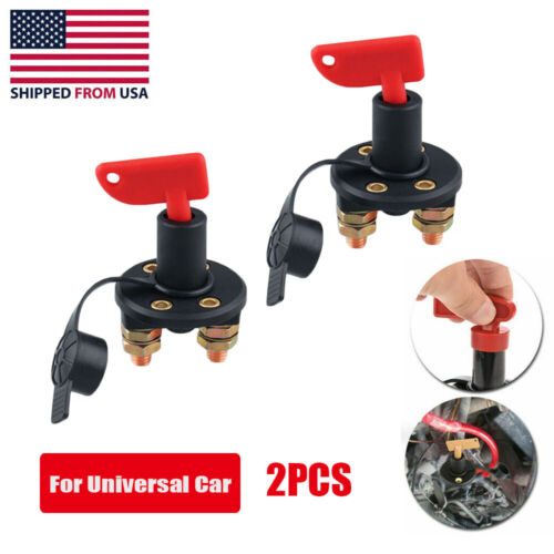 2pc Battery Isolator Disconnect Cut OFF Power Kill Switch for Car RV Boat Car & Truck Parts
