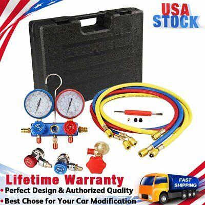 R134a R22 R410a Hvac Ac Refrigerant Kit Diagnostic Manifold Gauge Charging Set