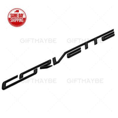 For 14 19 Corvette C7 R Z06 Gloss Black Rear Bumper Letter Badge Emblem Sport