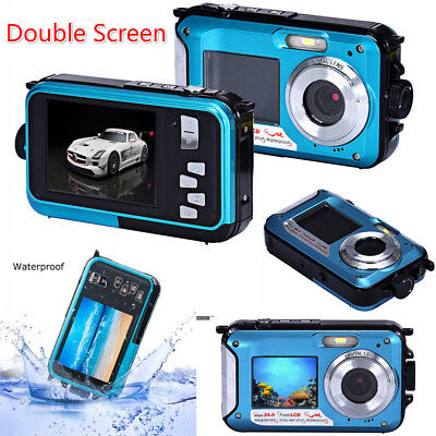 High Quality Double Screen 24MP 16x Digital Zoom 1080 HD Waterproof Dive Camera