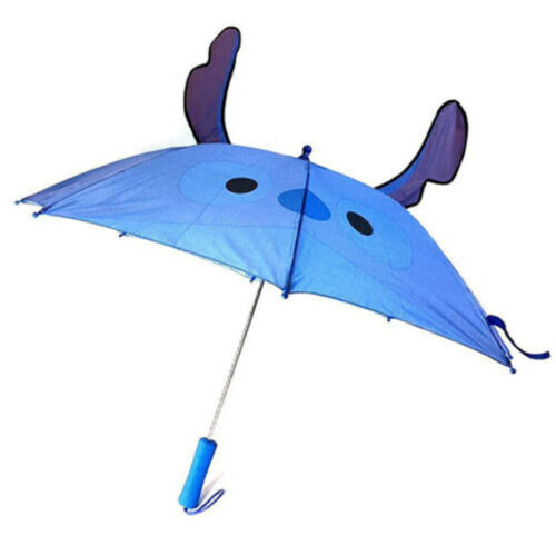 New Disney Stitch 3D Pop Out Kids Long Umbrella with Ears Lilo And Stitch