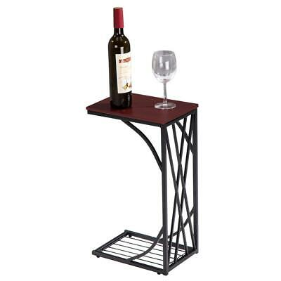 New C-Shaped Side Sofa Snack Table Coffee Tray End Table Living Room Furniture